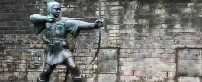 statua di robin hood nottingham